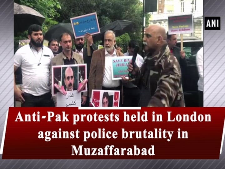 Anti-Pak protests held in London against police brutality in Muzaffarabad