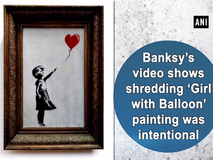 Banksy video shows shredding 'Girl with Balloon' painting was intentional