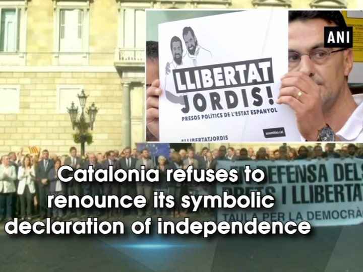 Catalonia refuses to renounce its symbolic declaration of independence