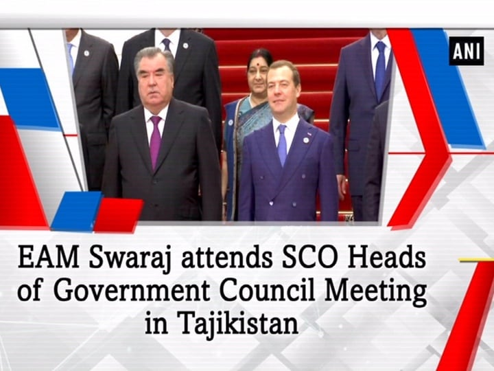 EAM Swaraj attends SCO Heads of Government Council Meeting in Tajikistan
