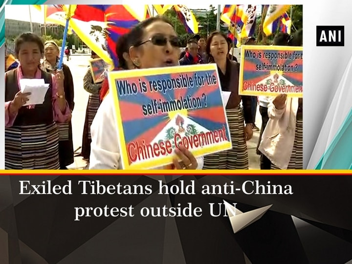 Exiled Tibetans hold anti-China protest outside UN
