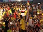 FIFA World Cup 2014: Columbia fans celebrate victory over Uruguay