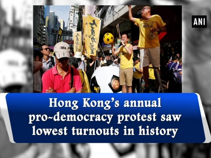Hong Kong's annual pro-democracy protest saw lowest turnouts in history
