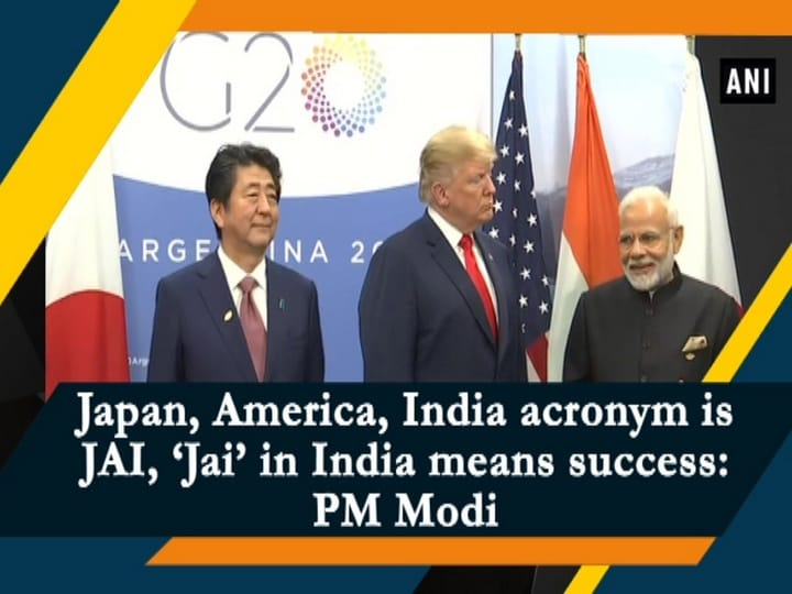 Japan, America, India acronym is JAI, 'Jai' in India means success: PM Modi