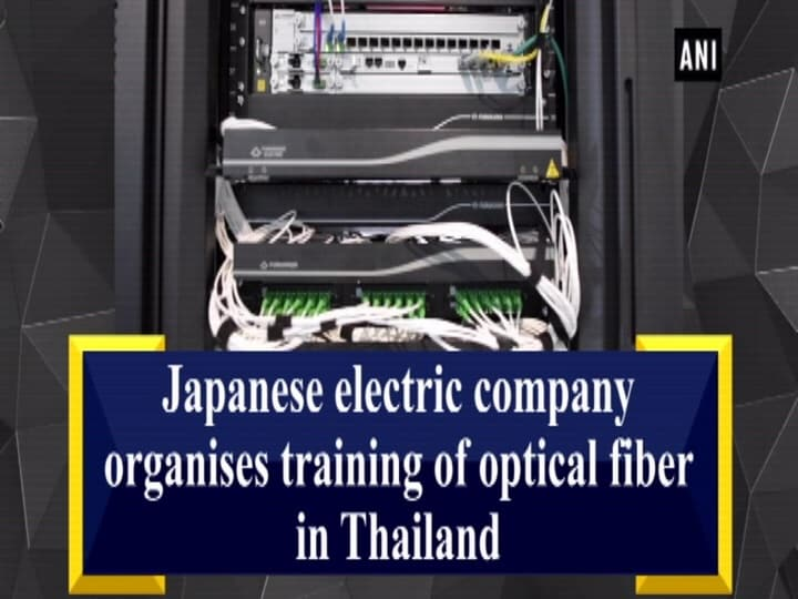 Japanese electric company organises training of optical fiber in Thailand