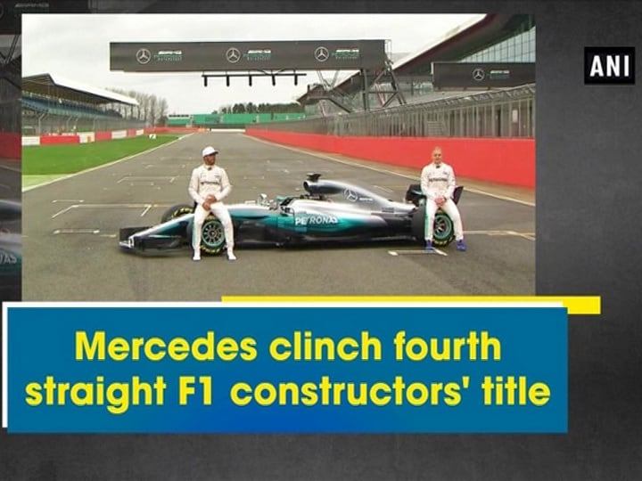 Mercedes clinch fourth straight F1 constructors' title