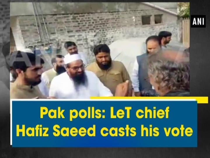 Pak polls: LeT chief Hafiz Saeed casts his vote