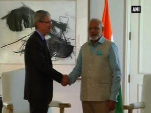 PM Modi meets Apple CEO Tim Cook