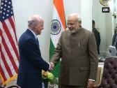 PM Modi meets Henry Kravis and Laurence D. Fink