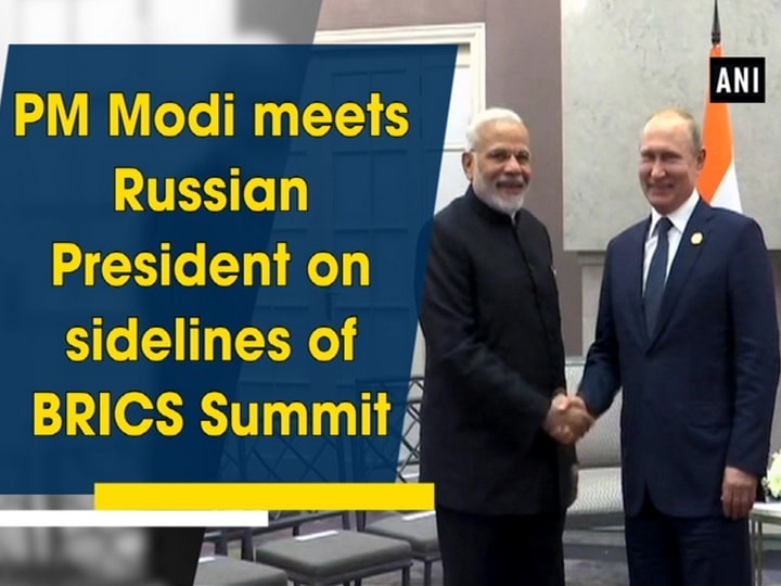 PM Modi meets Russian President on sidelines of BRICS Summit