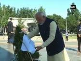 PM Modi pays tributes at Victory Monument in Bishkek