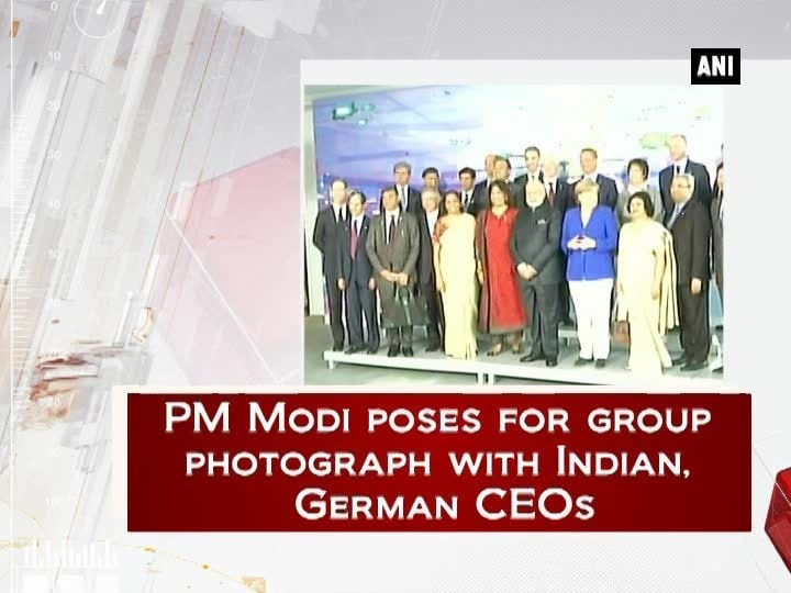 PM Modi poses for group photograph with Indian, German CEOs