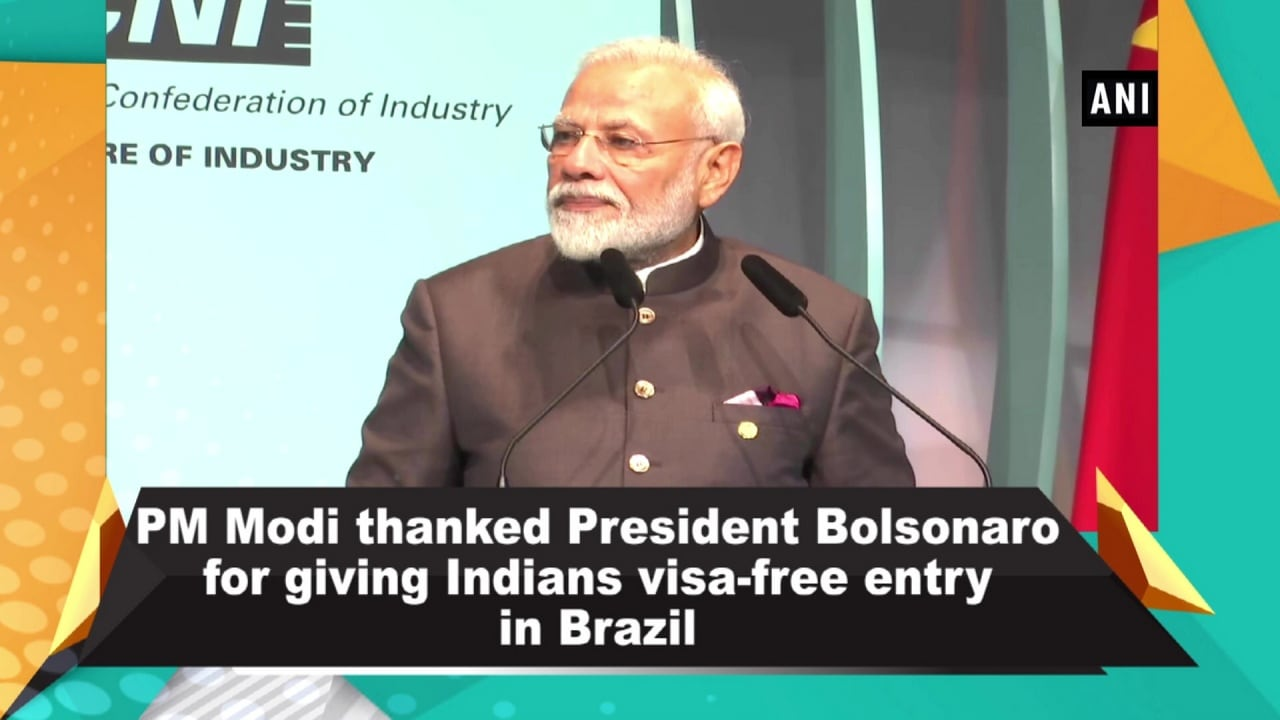 PM Modi thanked President Bolsonaro for giving Indians visa-free entry in Brazil