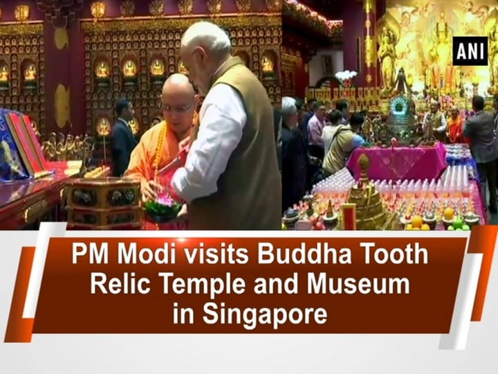PM Modi visits Buddha Tooth Relic Temple and Museum in Singapore