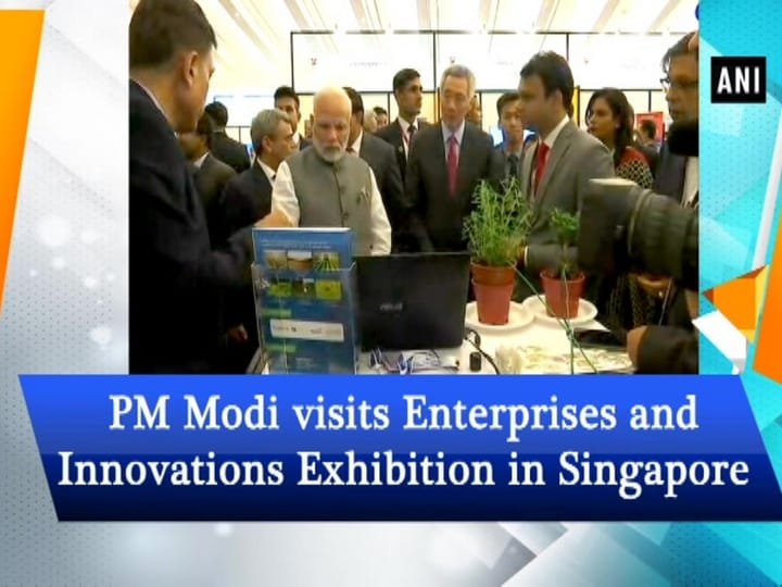 PM Modi visits Enterprises and Innovations Exhibition in Singapore