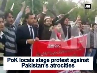 PoK locals stage protest against Pakistan's atrocities