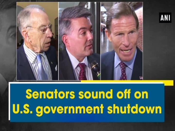 Senators sound off on U.S. government shutdown