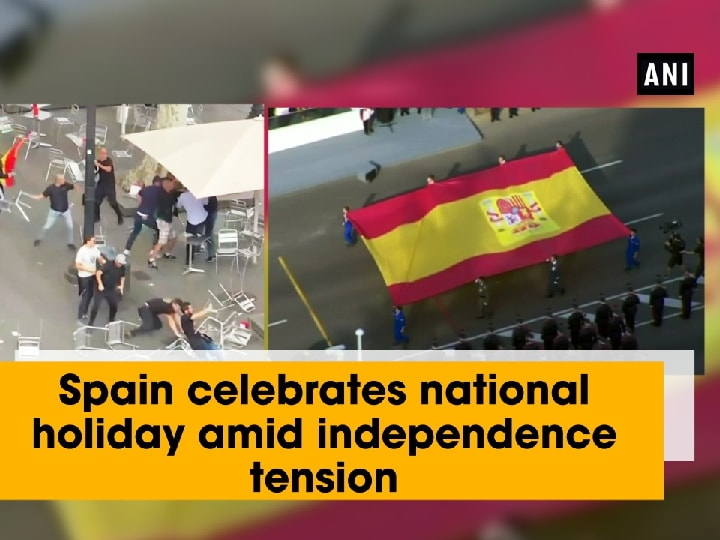 Spain celebrates national holiday amid independence tension