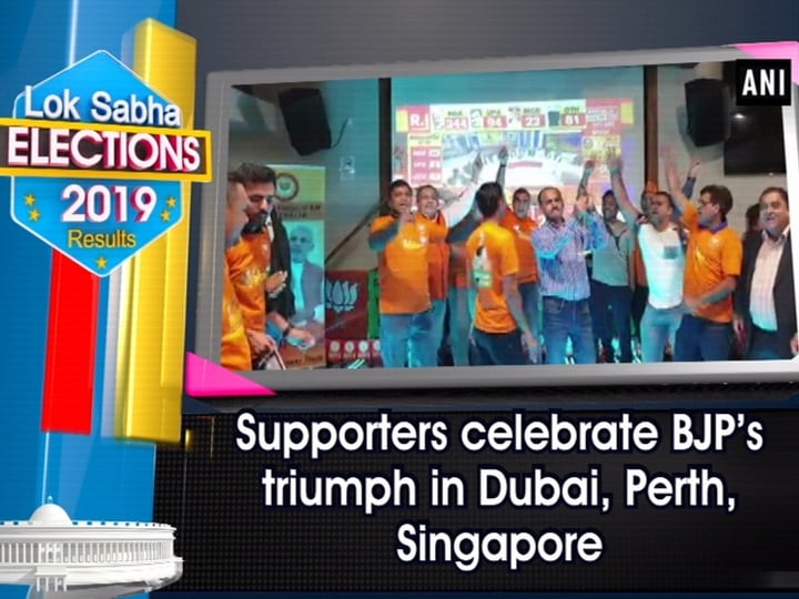 Supporters celebrate BJP's triumph in Dubai, Perth, Singapore