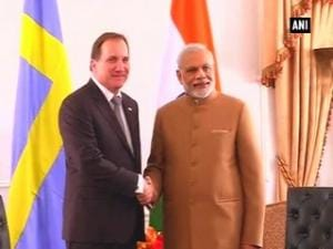 Sweden PM Stefan Lofven calls on PM Modi in New York