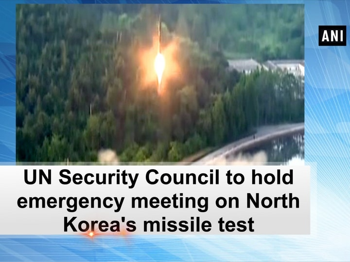 UN Security Council to hold emergency meeting on North Korea's missile test