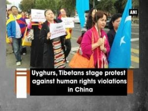 Uyghurs, Tibetans stage protest against human rights violations in China