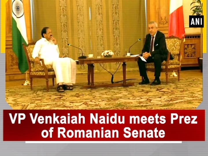 VP Venkaiah Naidu meets Prez of Romanian Senate