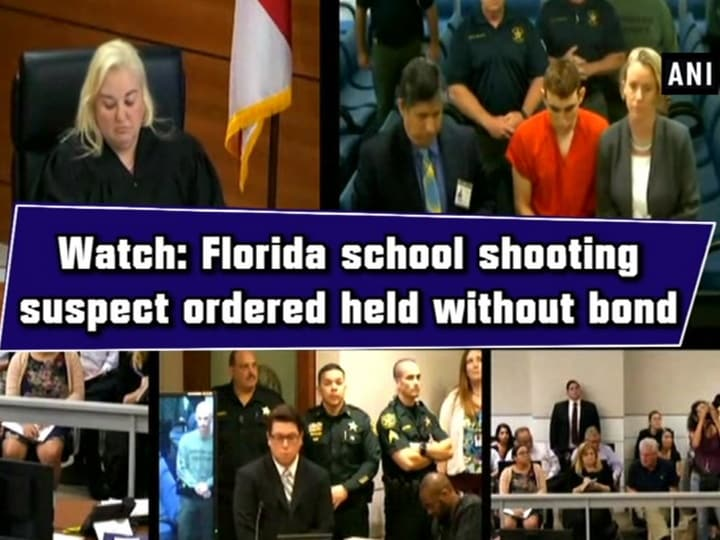Watch: Florida school shooting suspect ordered held without bond Florida