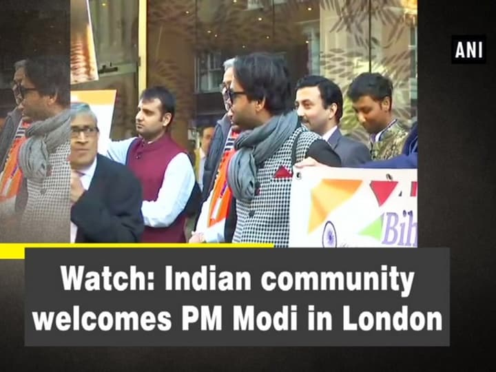 Watch: Indian community welcomes PM Modi in London