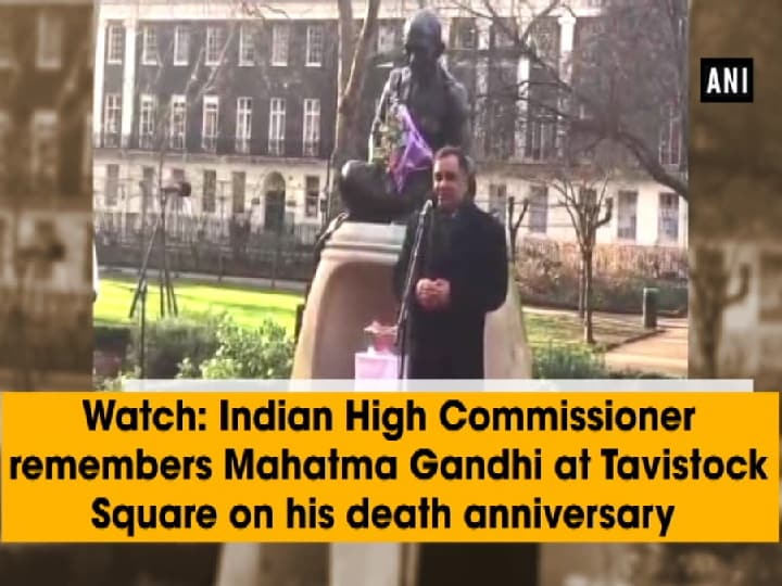 Watch: Indian High Commissioner remembers Mahatma Gandhi at Tavistock Square on his death anniversary