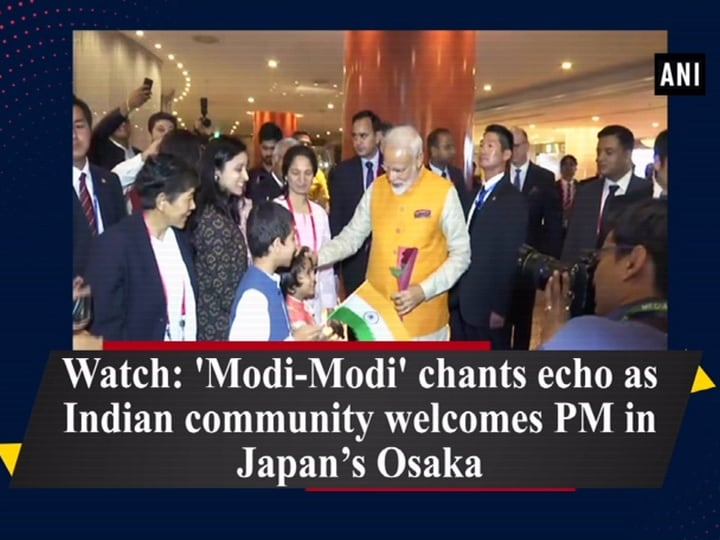 Watch: 'Modi-Modi' chants echo as Indian community welcomes PM in Japan's Osaka