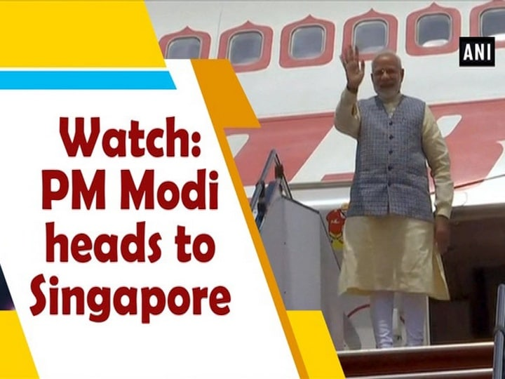 Watch: PM Modi heads to Singapore