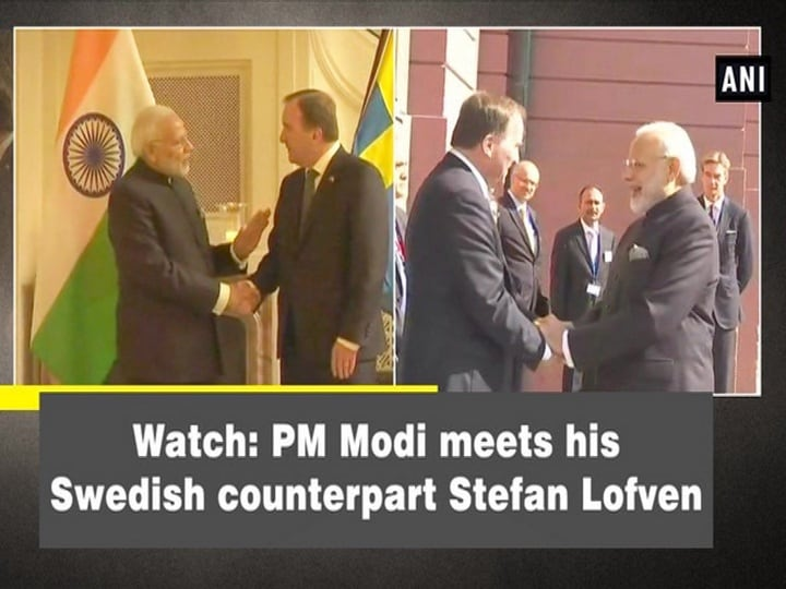 Watch: PM Modi meets his Swedish counterpart Stefan Lofven