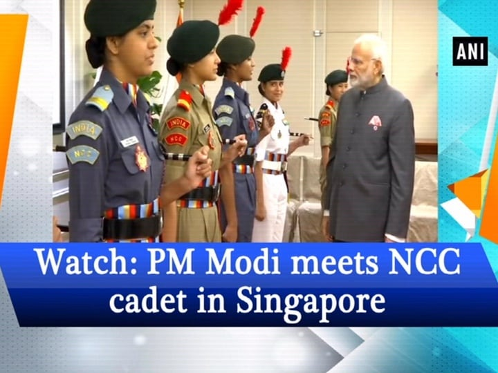 Watch: PM Modi meets NCC cadet in Singapore