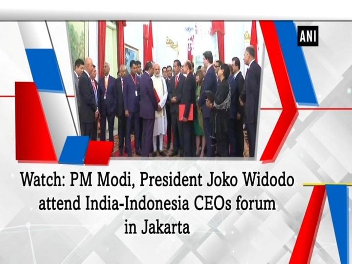 Watch: PM Modi, President Joko Widodo attend India-Indonesia CEOs forum in Jakarta