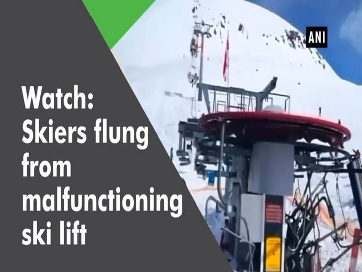 Watch: Skiers flung from malfunctioning ski lift