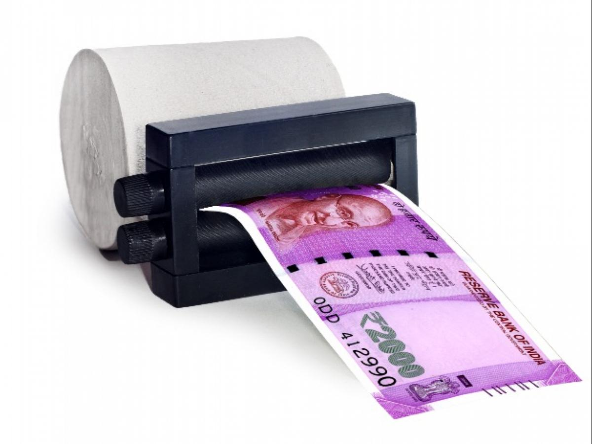 Why weren't currency notes printed abroad to overcome