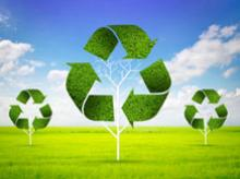 Waste recycling image via Shutterstock.