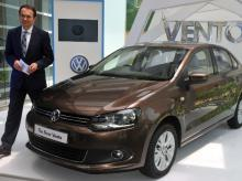 In this file photo, Michael Mayer, Director, Volkswagen Passenger Cars, Volkswagen Group Sales India Pvt. Ltd. during the launch of Vento, 1.5 TDI Turbo-Diesel in Mumbai (Pic: Suryakant Niwate)