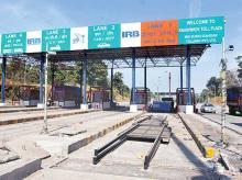 A toll plaza | File