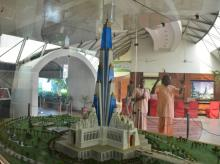 Model of the Krishna temple planned at Vrindavan Picture by Shanjay K Sharma