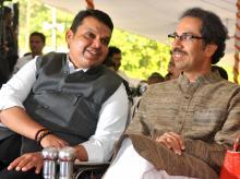 Chief Minister Devendra Fadnavis (left) and Shiv Sena president Uddhav Thackeray