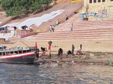 Work has begun at the ghats in Varanasi after Modi's visit to Assi Ghat