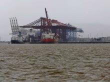 A general view of the Jawaharlal Nehru Port Trust (JNPT) in Mumbai