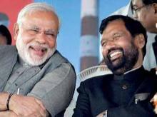 Narendra Modi & Ram Vilas Paswan. File photo