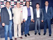 From left: Punit Goenka MD  and CEO ZEEL, Subhash Chandra, chairman (Essel), Rajiv Kheror, president strategy & planning, (International Business) (ZEEL), Piyush Sharma, CEO Zee Living - APAC, Amit Nairbusiness head Living Foodz