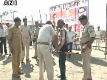 Man carrying an air gun detained at the entry to Rahul Gandhi's rally in Champaran, Bihar (Photo: ANI)