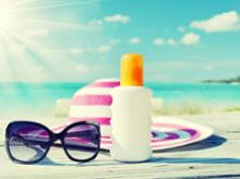 Sun lotion image via Shutterstock.
