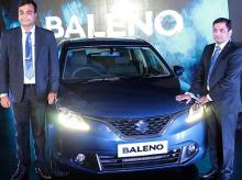 Partho Banerjee, vice-president, sales & dealer network, and Mohit Jindal, commercial businesses head, Nexa, at the launch of Maruti Suzuki Baleno in Mumbai on Oct 26, 2015. | Photo: Kamlesh Pednekar