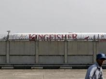 A Kingfisher Airlines aircraft is seen parked at the airport in New Delhi